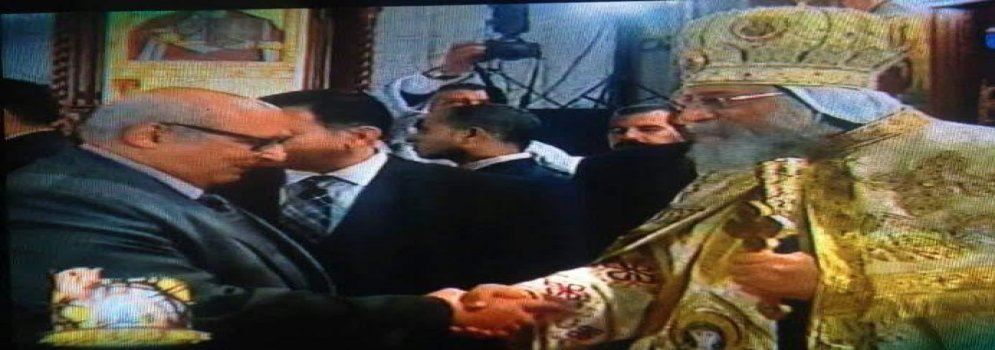 President of Ain Shams University congratulate Coptic brothers in the cathedral
