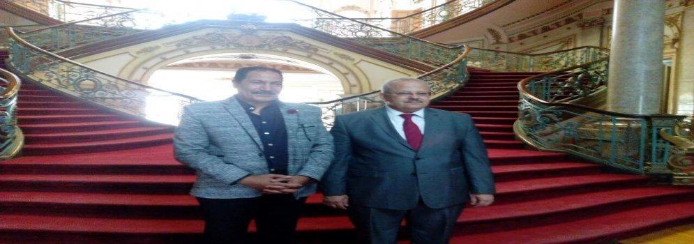 Président de l'Université du Caire à l'Université Ain Shams