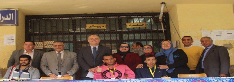 جامعة عين شمس تكرم الطلاب المتفوقين رياضياً