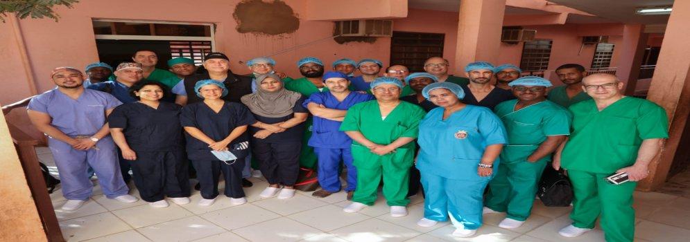 نجاح القافلة الطبية العلاجية التدريبية لأطباء الجامعة بالعاصمة السودانية الخرطوم