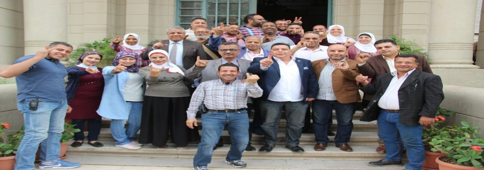 العاملين بجامعة عين شمس يشاركون في الانتخابات الرئاسية